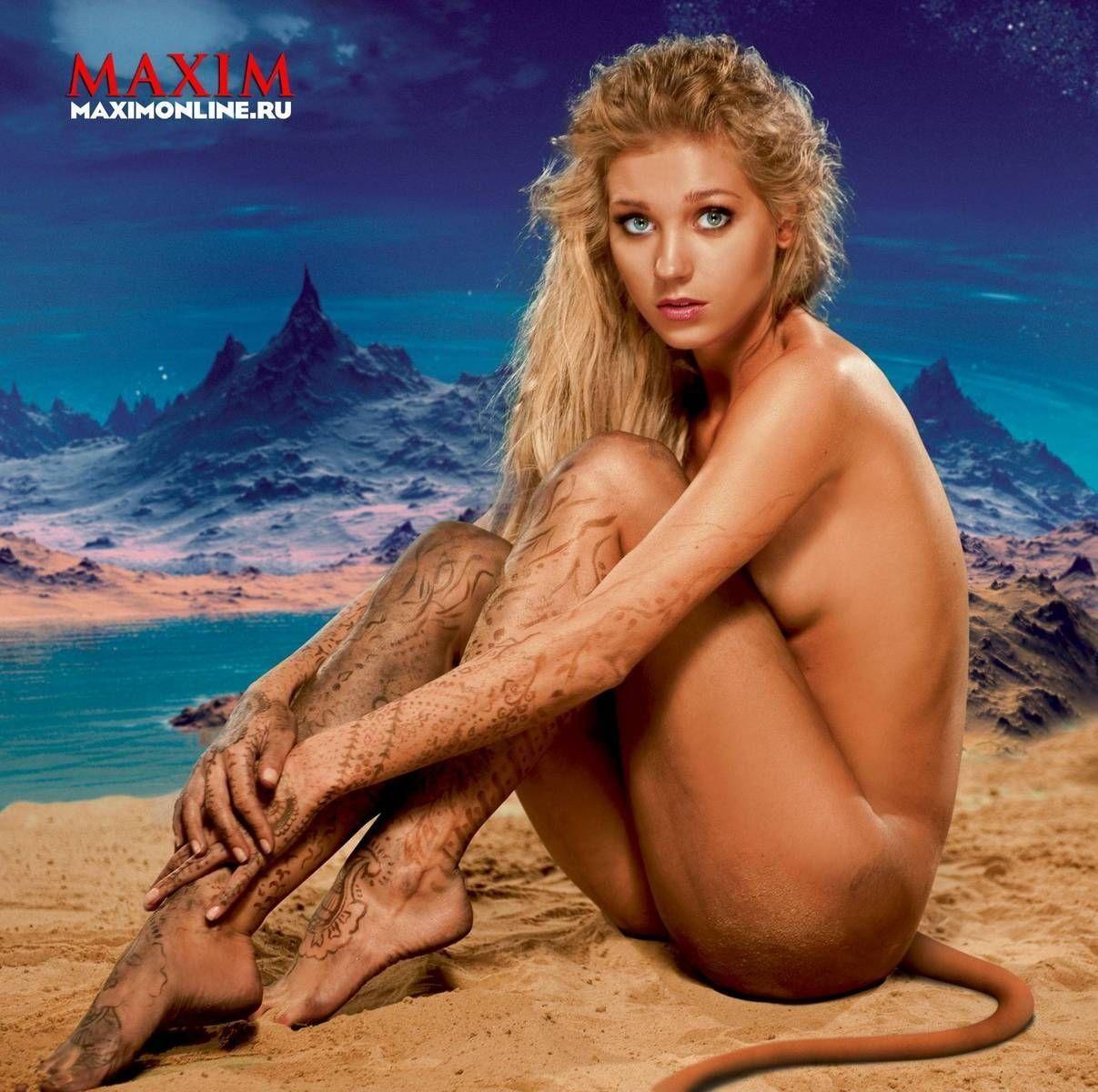 фото голой Кристины Асмус в журнале Maxim