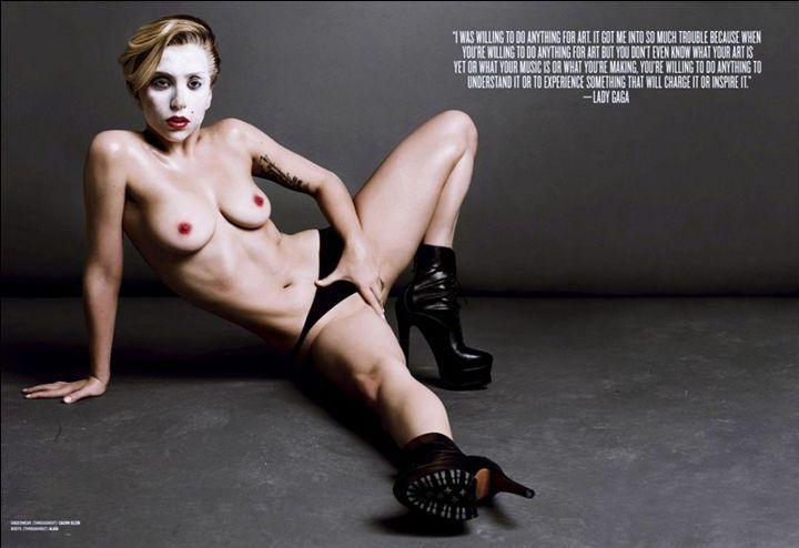 Леди Гага в трусиках
