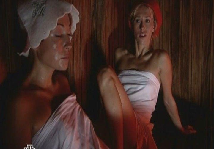 Голая Мария Болтнева в бане