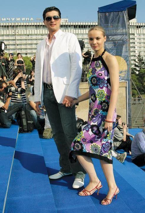 Ольга Арнтгольц с мужем