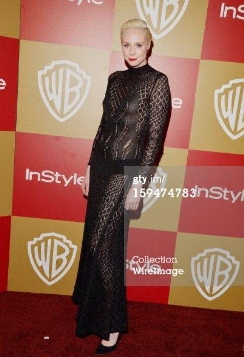 Гвендолин Кристи в голом платье