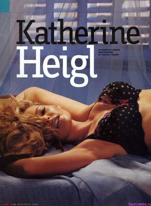 Кэтрин Хейгл в лифчике