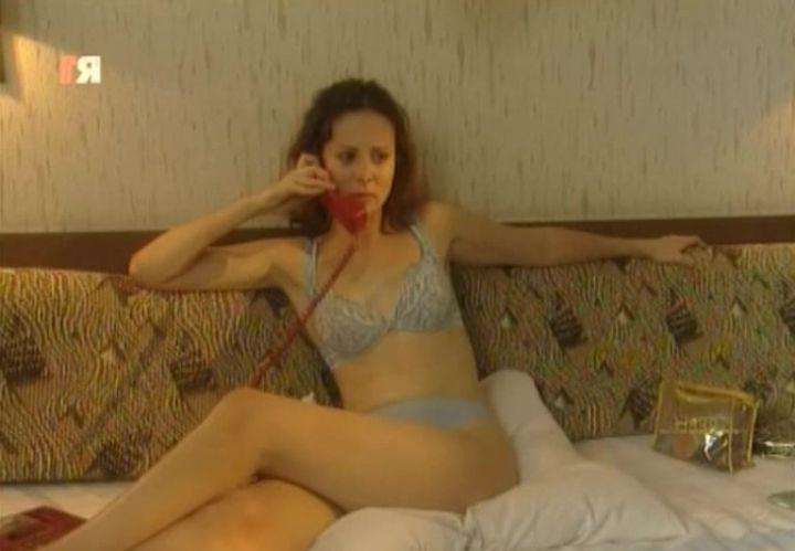 Ольга Погодина в нижнем белье