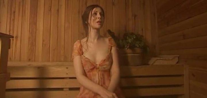 обнаженная Ольга Погодина в бане