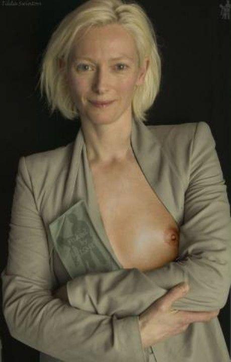 Тильда Суинтон обнажила грудь