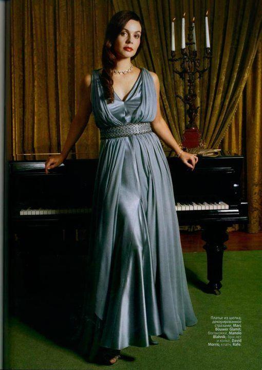сексуальная Екатерина Андреева в платье