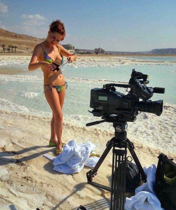 Елена Ландер в купальнике
