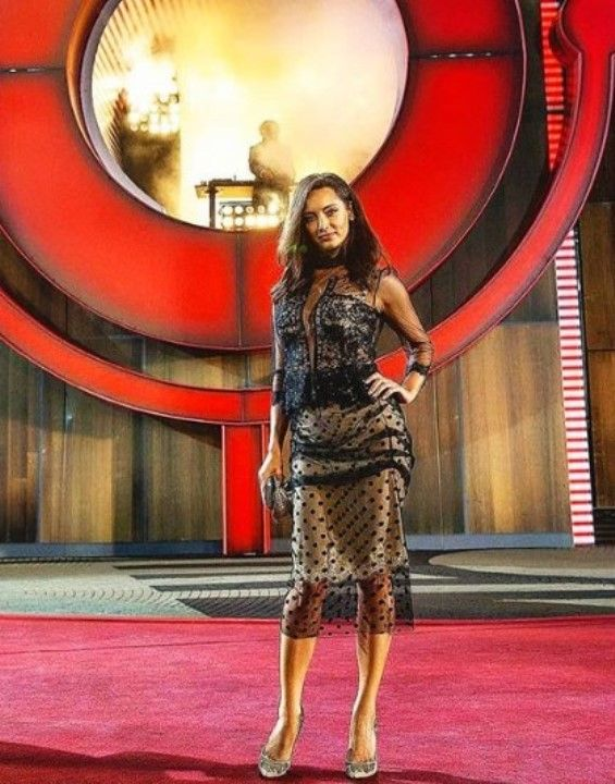 Татьяна Денисова в голом платье