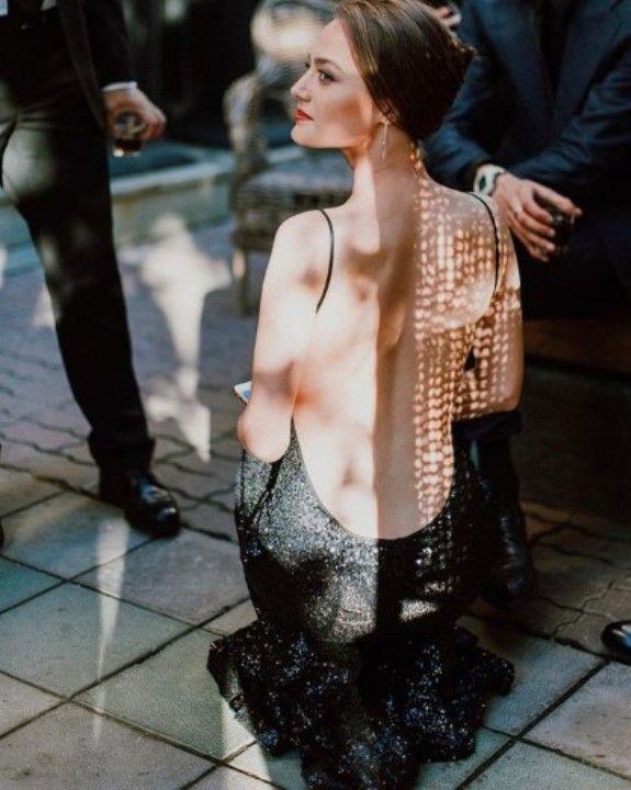 Ангелина Поплавская в голом платье