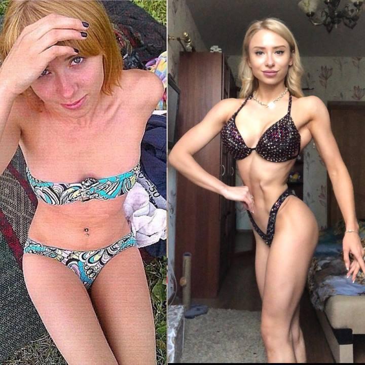 Мария Соколова до и после