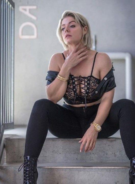 Mia Sand's protruding nipples